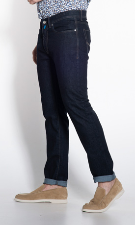 Pierre Cardin Lyon tapered fit denim donkerblauw