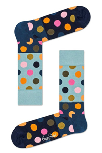 Happy socks blauw met stippen