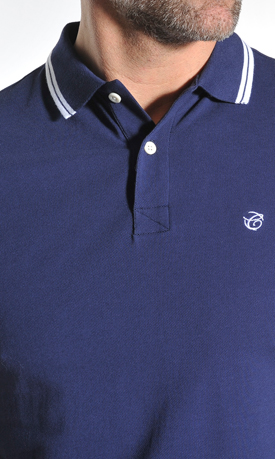 Donkerblauwe polo Campbell