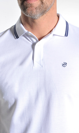 wit poloshirt heren